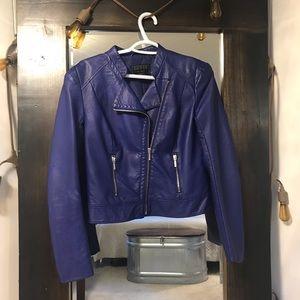 GuessJeans Asymmetrical Faux Leather Moto Jacket